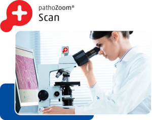 Product image Doctor digitizes slides on her own microscope with PathoZoom Scan