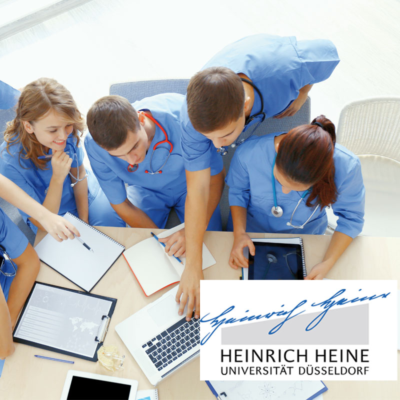 Students of the Heinrich Heine Universität learning with SmartZoom ClassRoom
