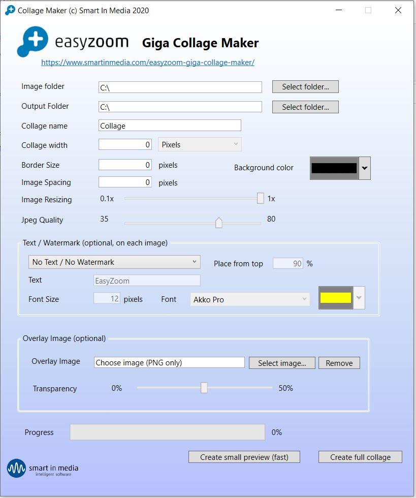 EasyZoom Giga-Collage Maker